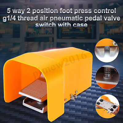 G1/4'' Pneumatic Foot Steel Valve 2 Position 5 Way Electrical Switch ET4F210-08G