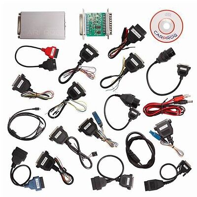 V10.05 Carprog Full Newest Version With All 21 Item Adapters CAR PROG Programmer