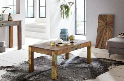 Coffee table 110 x 60 Side table Shabby Chic couch table Recycling Massive wood