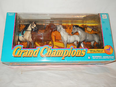 Grand Champions Mini Horse Collection 1996 Set of 4 New in Box
