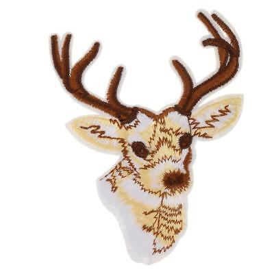 Sequins Vêtements Sewing Broderie Deer Patch Sew on Applique for Crafts