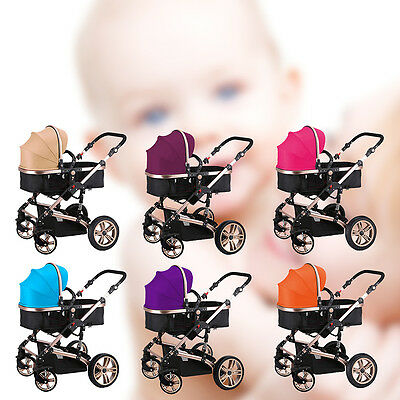 2 in1 New Baby Stroller Infant Travel Foldable Pram Pushchair Carts  Carriage