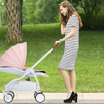 2 In1 Foldable Baby Stroller Pram Kid Travel Newborn Infant Buggy Pushchair Pink