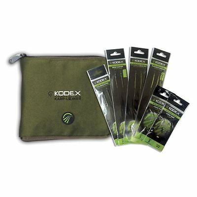 Kodex Carp Rigs Pack, 14 Rigs and Case / Carp Fishing