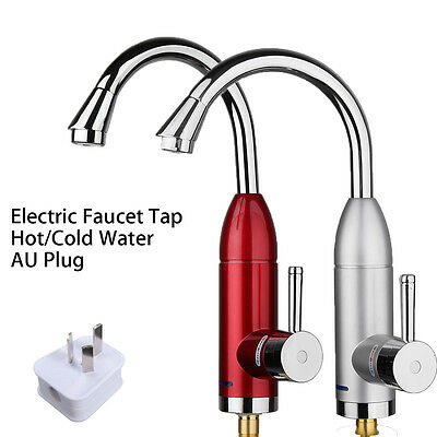Instant Electric Faucet Tap Cold&hot Water Heater Home Bathroom Kitchen Sink AU