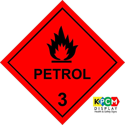 *BEST Dangerous Substance Label Petrol Warning Safety Sign Sticker Self Adhesive