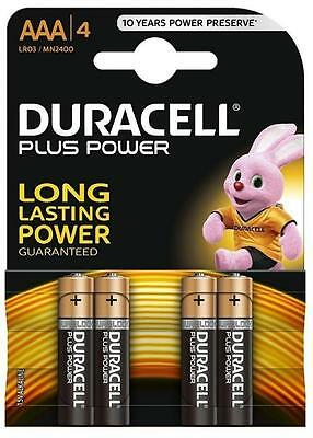 Duracell AAA Alkaline 1.5V Batteries LR03/MN2400 Long Lasting Power 4 in 1 Pack