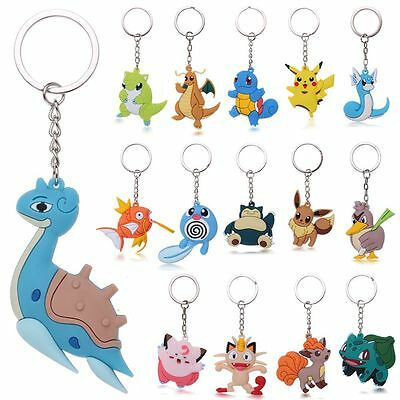 3D Pocket Monsters Pokemon Go Key Ring Keychain Key Pendant Toy Fashion Gifts