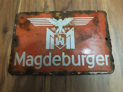 Antique Enamel plate Magdeburger 1844-war relic-
