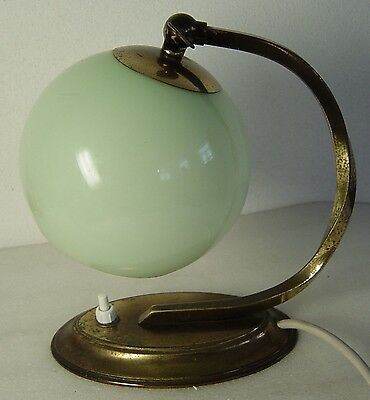 Art Deco Wall Lamp Shades : Art Deco Bauhaus brass table or wall lamp with ballshaped green glass shade CAD USD 84.20 ...