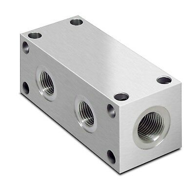 """Oleorama Hydraulic Parallel Manifold, 1/8"""" to 1"""" BSP, 2 to 9 Stations"""