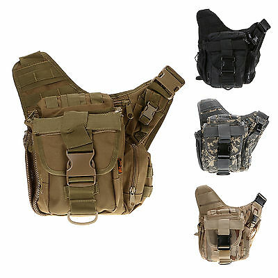 Multi-Color Tactical Field Pack Messenger Bag Military Army Hiking Gear Backpack
