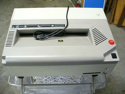 Oztec 1675 Strip Cut Paper Shredder and Stand