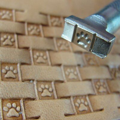 James Linnell - Paw Print Basket Weave Stamp (Leather Stamping Tool)