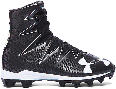 Under Armour UA Highlight RM Jr Youth Football Cleats Shoes, Blk/Wht 1269697-001