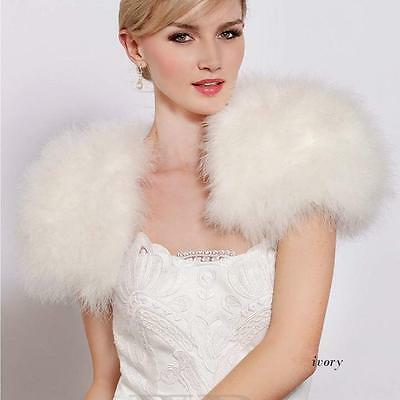 Natural Ostrich Feather Bolero Wedding Accessories Wraps And