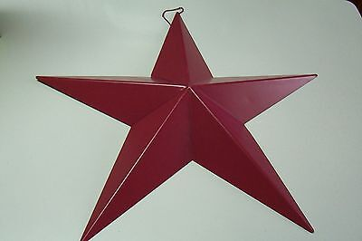 Large Patriotic Americana July 4th Red Metal Star Ornament 18 Inch