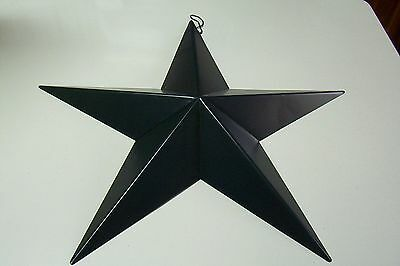 Large Patriotic Americana July 4th Navy Blue Metal Star Ornament 18 Inch
