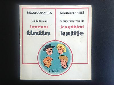 TRES RARE Carnet Decalcomanie Chick Bill Tibet Journal Tintin TBE  Decalco