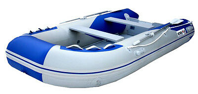 11FT Kodiak Sportsman Inflatable Boat, Complete Raft with Oars, Pump and Seat