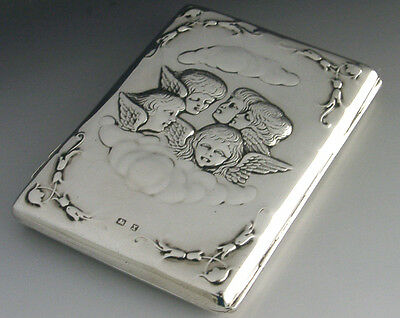Sterling Silver Nursing Shipping Card Case 1897 Antique P&o Ss India Antique