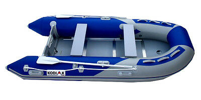 12FT Kodiak Sportsman Inflatable Boat, Complete Raft with Oars, Pump and Seat