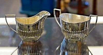 Sterling Silver Cream and Sugar Dish 245 Grams