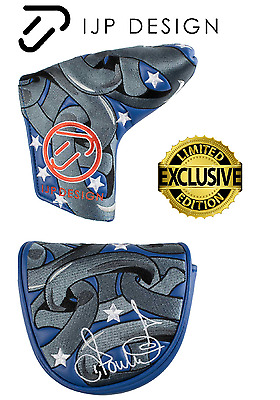 Ian Poulter Golf Putter Head Cover Limited Edition Blue Stars  Blade Mallet IJP