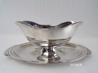 Gerofabriek, Double Lip Sauce Boat, Deco Silver Plate , 20th Century