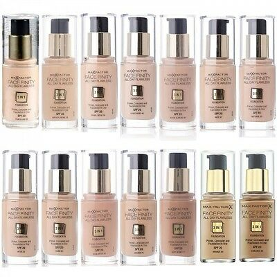 MAX FACTOR FACEFINITY ALL DAY FLAWLESS 3 IN 1 FOUNDATION 30ml SPF20