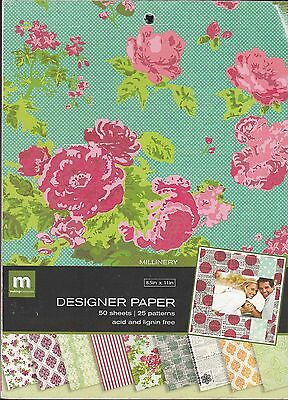 Scrapbook Paper Pad  8.5 X 11 Designer Paper Mill  50 Sheets  By Making Memories