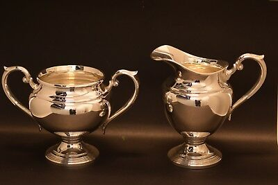 Matching Sterling Silver Pitcher and Creamer Set 475 Grams Collectors Item