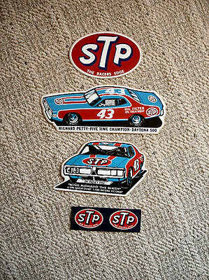 Vintage STP Stickers Featuring Richard Petty, Nascar, Daytona