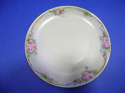 Vintage German KPM Hand Painted Display Plate Decorative Roses Made in Germany