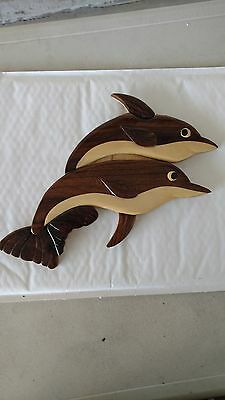 wood carved dolphin