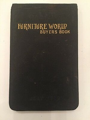1909 Furniture World Buyers Book List Of Manufacturers Exhibiting In New York