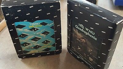 The Who Tommy + Quadrophenia Lot 8-Track Tapes Classic Rock Rock Opera Sleeve A+