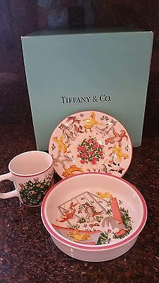 Tiffany & Co. Playground Bowl Plate Cup Delightful Child Dishes (PG557) NIB