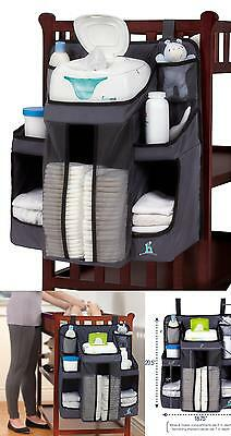 Nursery Organizer And Baby Diaper Caddy Storage Holders Rack Hang On Crib