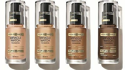 Max Factor Miracle Match Foundation Blur & Nourish  - CHOOSE YOUR SHADE