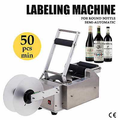 Semi-automatic Round Bottle Labeller Labeling Machine High Efficiency