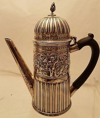 English Sterling Coffee Pot Straight Sided