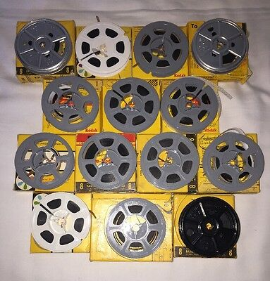 Vintage 8mm Film Lot Home Recordings 40s 50s 60s Kadachrome Movie Footage
