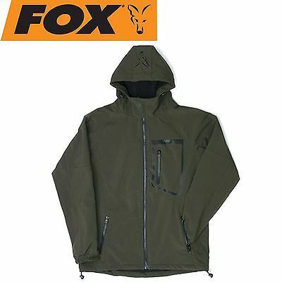 Fox Green Black Softshell Jacket - Angeljacke, Softshell Jacke, Angelbekleidung