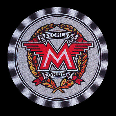 4 x MATCHLESS EARLY WREATH TYPE LOGO MOTORCYCLE MOTOR CYCLE DRINK COASTERS -