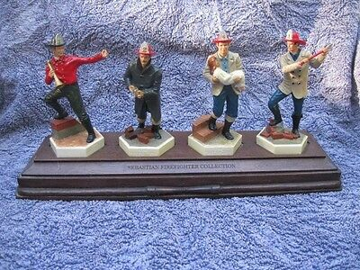 Sebastian firefighters  all 4 with display stand and 3 boxes  for 1 2 3
