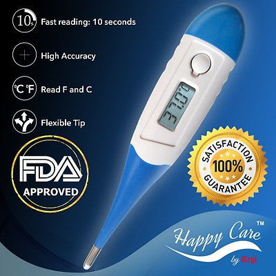 Best 2016 FDA Fast 10 Sec Reading Digital Medical Thermometer for Oral, Rectal,