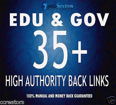 Build 35 High Authority  Edu and Gov SEO Dofollow Backlinks