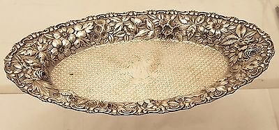 Jacobi & Co Sterling Oval Repousse Bread dish/ Serving Dish