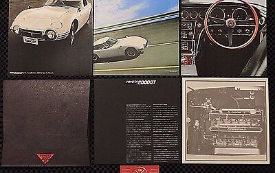 Toyota 2000GT Rare Japanese Brochure Set of 4 w/case Toyopet Vintage 67-70 68 69